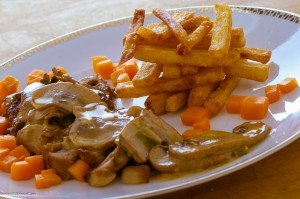 Tripple Fried Fries Steak Diane and Mushroom Sauce - Copy