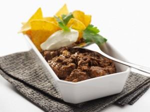 Chili con carne with nachos